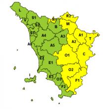 Codice giallo per ghiaccio dalla mezzanotte fino alle 11 di martedì 29 gennaio