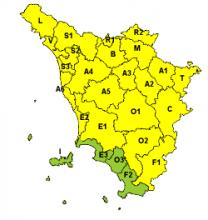 Codice giallo per neve su quasi tutta la regione per domani, 30 gennaio