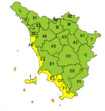 Maltempo, codice giallo per rischio idrogeologico e temporali forti nel centro-sud, costa e isole