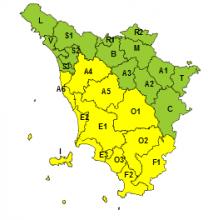Maltempo, codice giallo per piogge e temporali fino alla mezzanotte di domani, martedì 12