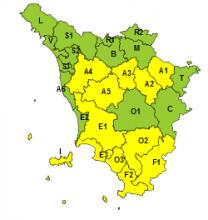 Codice giallo per temporali e precipitazioni dalla mezzanotte di oggi alle 20 di domani, sabato