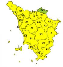 Maltempo, codice giallo per vento per domani 24 gennaio