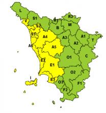 Piogge e temporali, lunedì 1 ottobre  allerta sulla Toscana centro-settentrionale