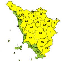 Codice giallo per ghiaccio in tutta la Toscana ad esclusione della costa