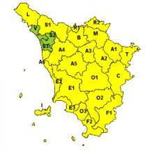 Neve e vento, esteso fino alle 13 di lunedì allerta 'giallo' in tutta la Toscana