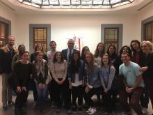 Studenti americani in visita in Regione, interessati alle politiche sull'immigrazione