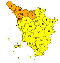 Allerta per pioggia e vento dalle 8 di domenica 11 marzo fino alle 12 di lunedì