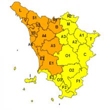 Maltempo, codice arancione per rischio idrogeologico e temporali forti nel nord-ovest