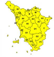 In arrivo pioggia, vento e mare mosso: codice giallo per domani su tutta la Toscana