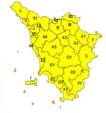 Maltempo, codice giallo per vento esteso a tutta la giornata di lunedì 13 maggio