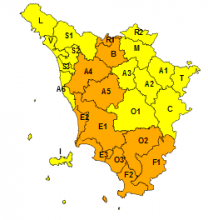Maltempo, codice arancione per piogge e temporali da stanotte alle 18 di venerdì 15