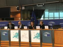 Signature de la déclaration « Smart Islands » aujourd'hui au Parlement européen en présence de Marie-Antoinette Maupertuis