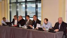 Séminaire de travail organisé par la CTC en partenariat avec la CCI de Corse-du-Sud et la Fédération départementale du BTP de Corse-du-Sud ce matin à Aiacciu